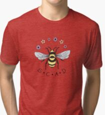 Art the Bee from Savannah College of Art and Design Tri-blend T-Shirt