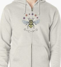 Art the Bee from Savannah College of Art and Design Zipped Hoodie