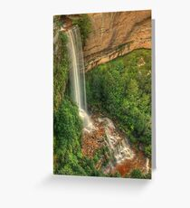 Katoomba Falls from the lookout Greeting Card