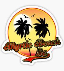 MYRTLE BEACH SOUTH CAROLINA BEACH PALM TREE OCEAN SCENE Sticker