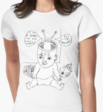 Devil Baby Drawing Womens Fitted T-Shirt