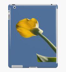 Yellow calla lily greets blue sky iPad Case/Skin