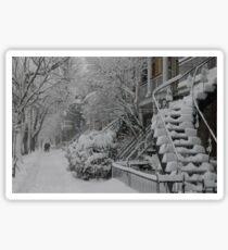 Montreal Snow Winter Scene Sticker