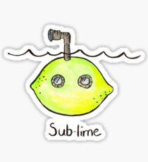 Sub-lime Sticker