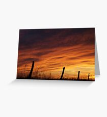 Unexpected Crimson Sunset Greeting Card