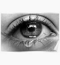 weinendes Auge Poster