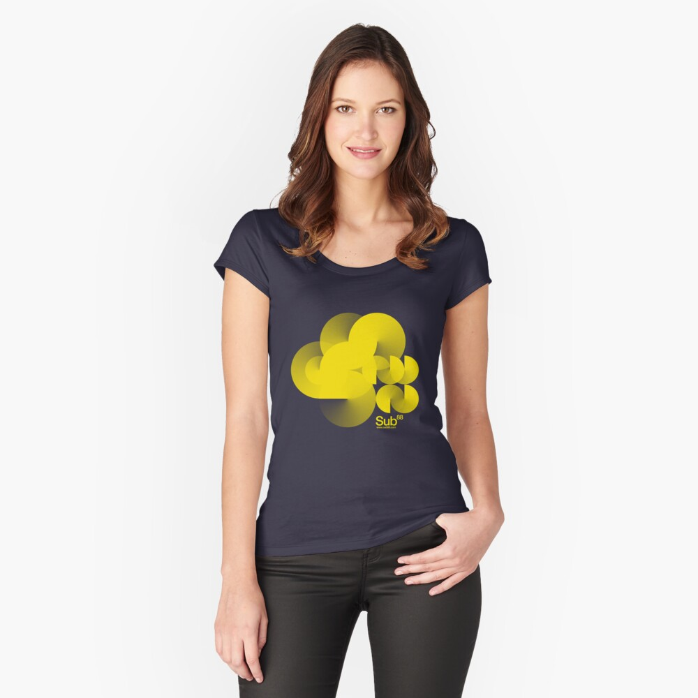Cloud Sub Women's Fitted Scoop T-Shirt Front