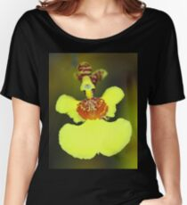 Yellow Orchid Macro Women's Relaxed Fit T-Shirt