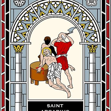 ST. ARCADIUS OF MAURETANIA under STAINED GLASS by CatholicSaints