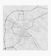 Wroclaw, Poland Map. (Black on white) Photographic Print