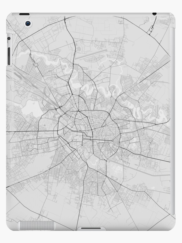 \'Bucharest, Romania Map. (Black on white)\' iPad Case/Skin by Graphical-Maps