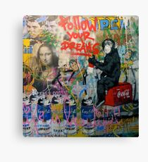 Follow your dreams - graffiti design Canvas Print