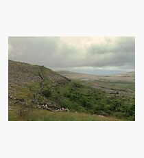 Dry stone walls of the Burren Photographic Print