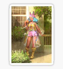 Summer rain Sticker