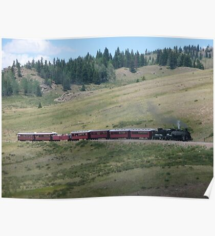 Scenic New Mexico by steam train Poster