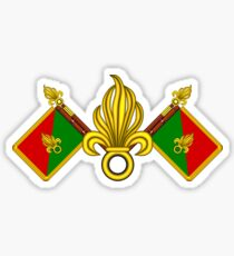 French Foreign Legion - Fanion et grenades Sticker