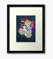 Geode Lady Framed Print