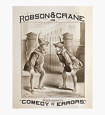 Performing Arts Posters Robson Crane in Shakespeares Comedy of errors 0617 Photographic Print