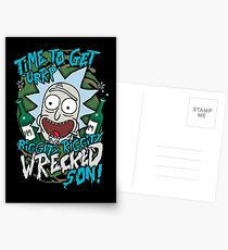 Rick and Morty Get riggedy riggedy wrecked son! Postcards