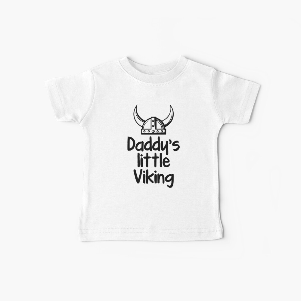 Daddy's Little Viking Baby T-Shirt