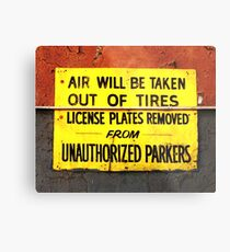 Unauthorized Parkers Metal Print