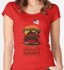 Benny's Burgers Women's Fitted Scoop T-Shirt