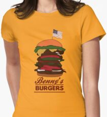 Benny's Burgers Women's Fitted T-Shirt