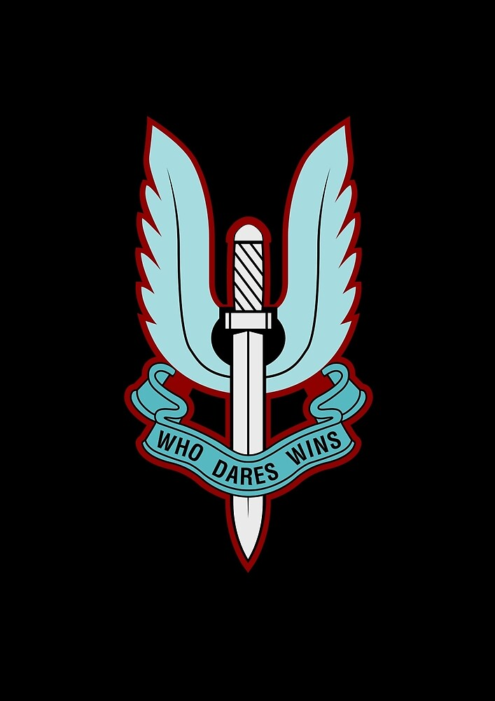 Special Air Service (Blue - No Background)  by wordwidesymbols