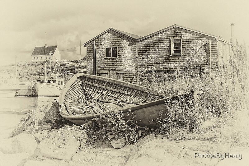 Peggy's Cove - sepia by Photos by Healy