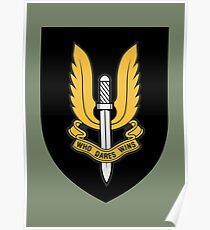 Special Air Service (Gold - Black Shield) Poster