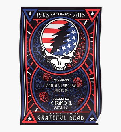 Grateful Dead at Levis Stadium, Santa Clara (50 Years) Poster