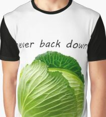 NEVER BACK DOWN. EVER. #PAPAHACKERARMY Graphic T-Shirt