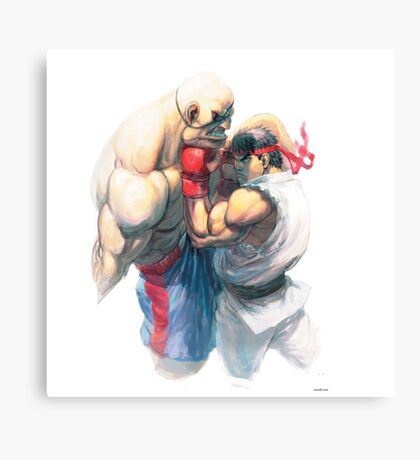 Street Fighter #1 - Sagat vs Ryu Canvas Print