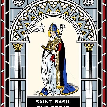 ST BASIL THE GREAT under STAINED GLASS by CatholicSaints