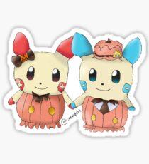Halloween Plusle And Minun Sticker