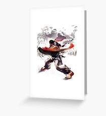 Street Fighter #2 - Ryu Greeting Card