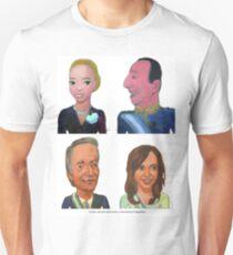Evita y Juan Perón, Néstor y Cristina Kirchner. Por Diego Manuel T-Shirt