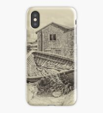 Peggy's Cove - sepia iPhone Case