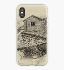 Peggy's Cove - sepia iPhone Case
