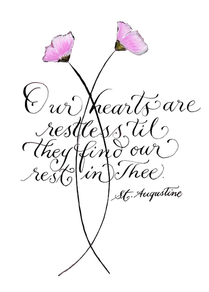 Our Hearts Are Restless inspirational quote by Melissa Renee