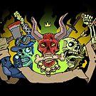 3 Spooky Dead Dudes by dominickerley