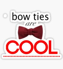 Doctor Who - Bow Ties Are Cool Sticker