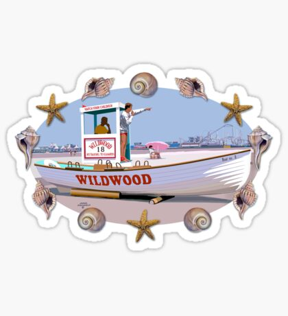 Wildwood By the Sea Glossy Sticker