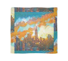 New York City Sunset Empire State Building Scarf