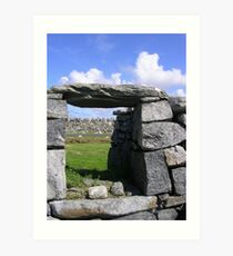 Blackhouse Remains Art Print
