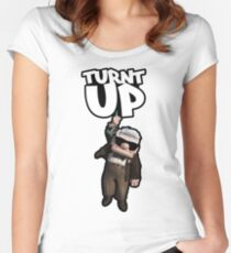 Turnt Up Women's Fitted Scoop T-Shirt