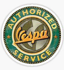 Authorized Vespa service sign Sticker