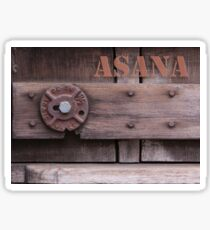 Rustic Asana Sticker