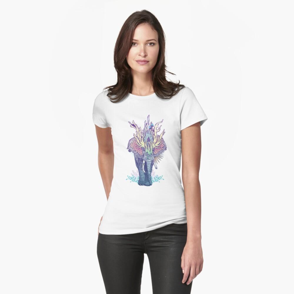 Geisttier - Elefant Tailliertes T-Shirt