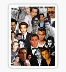 Johnny Depp Collage Sticker